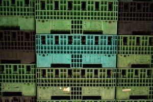 Contenedores de plástico colapsables