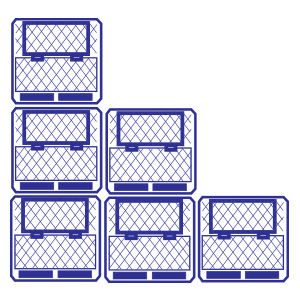 Contenedores de plástico apilables